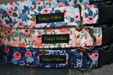 "Rifle Paper Co Dog Collars, ""The Rosa Collection"""