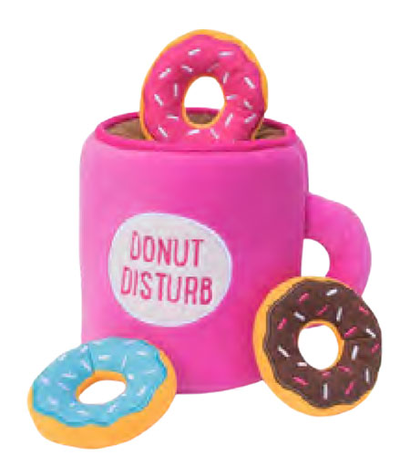 Coffee and Donut Burrow Dog Toy