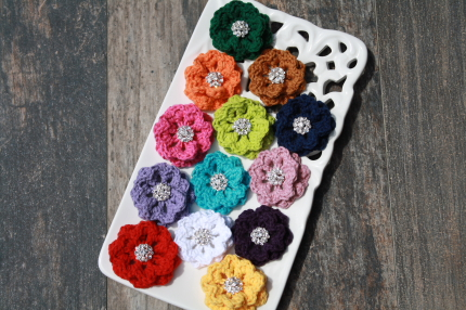 Crochet Collar Flowers