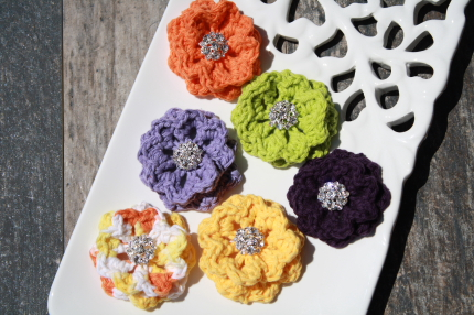 Halloween Crochet Collar Flowers