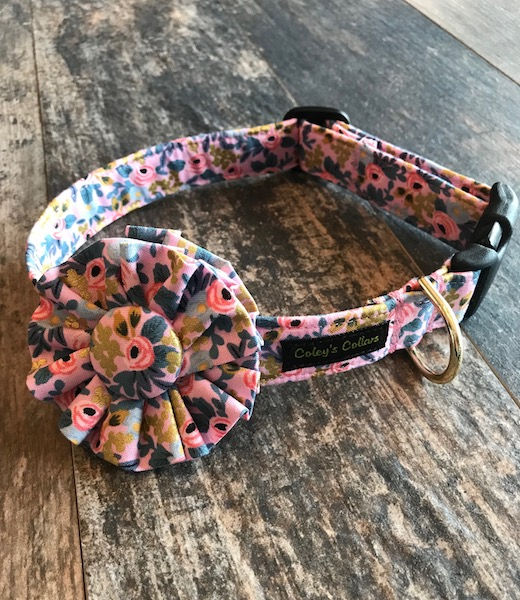 Fabric Collar Flower