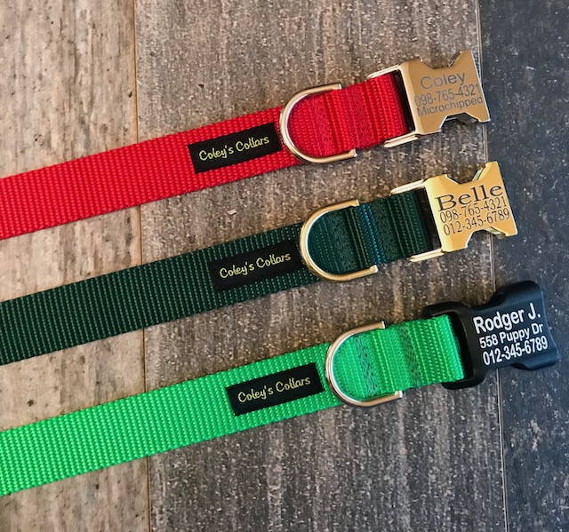 Engraved Buckle Nylon Collar Christmas Collection