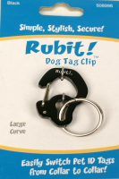 Rubit Dog Tag Clip - Silver